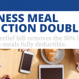 Business Meal Deduction Doubled