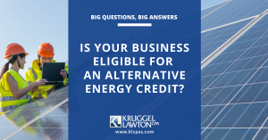 Using alternative energy technologies