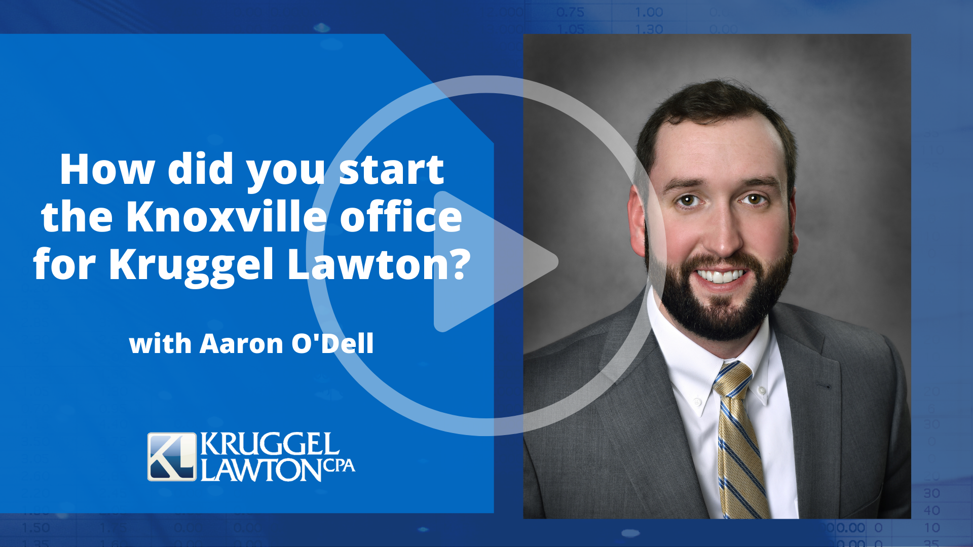 Get to know Aaron O'Dell in our Knoxville office